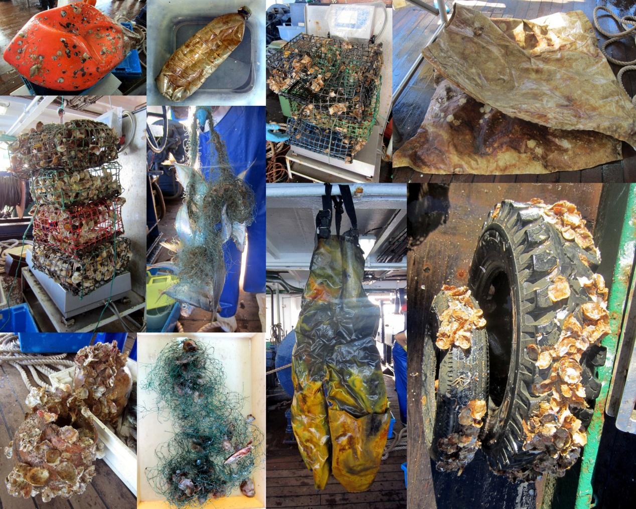O lixo que se recolhe no fundo do oceano