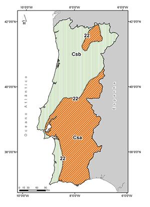mapa climático de portugal Instituto Português do Mar e da Atmosfera mapa climático de portugal