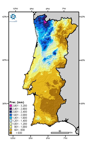 mapa clima portugal Instituto Português do Mar e da Atmosfera mapa clima portugal
