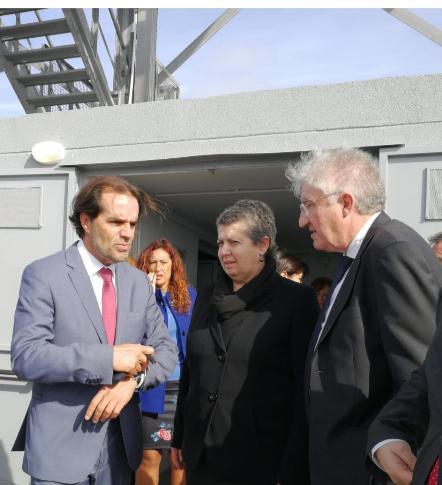 Ministra do Mar, Ana Paula Vitorino,o Presidente do Governo Regional da Madeira, Miguel Albuquerque e o presidente do IPMA, Miguel Miranda