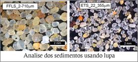 Analise de sedimentos usando lupa