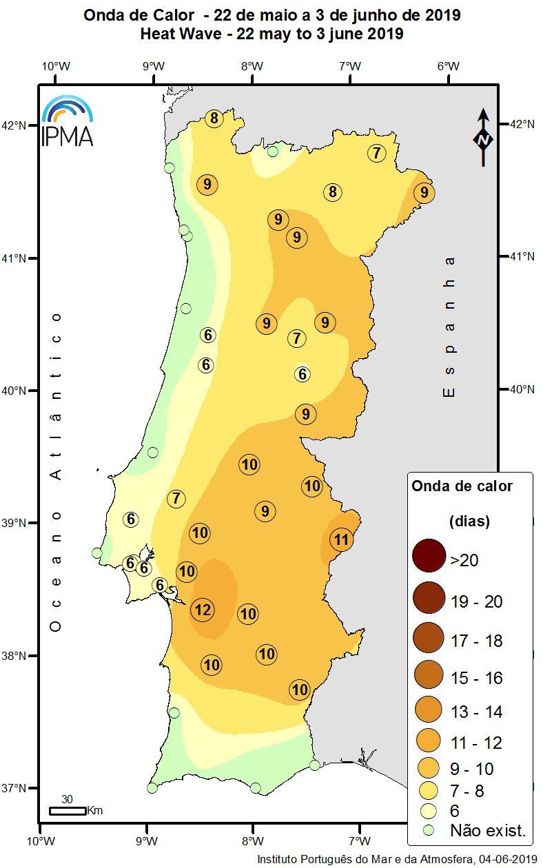 Figura 2: Onda de calor de 22 de maio a 03 de junho de 2019