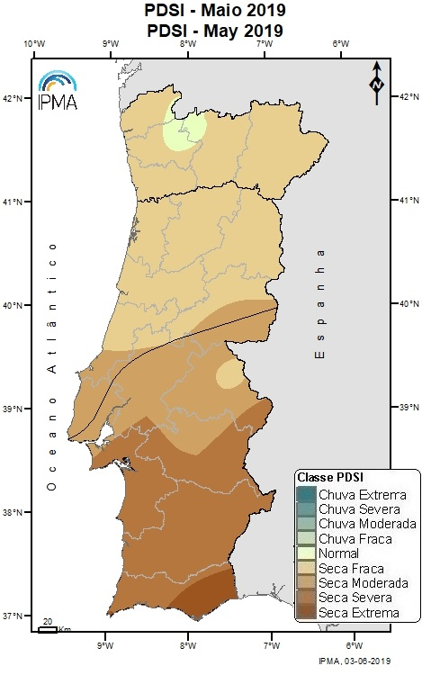 Figura 3: Índice de seca PDSI