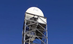 Image from the RADAR system tower that allows covering Madeira Archipelago, located at Pico do Espigão, in Porto Santo